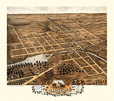 Naperville Panoramic Map